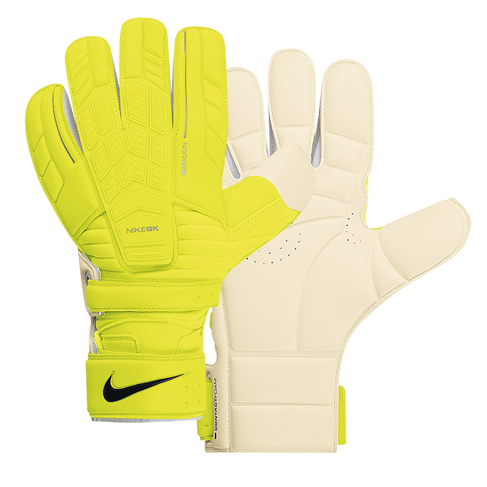 Black nike goalkeeper gloves - Nike Confidence Soccer Goalkeeper Glove Volt White Black