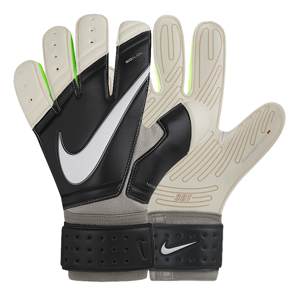 Black nike goalkeeper gloves -