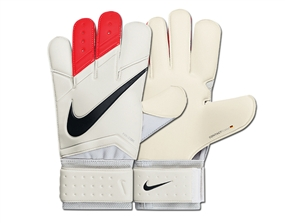 Nike Vapor Grip3 Soccer Goalkeeper Gloves (White/Total Crimson/Black)