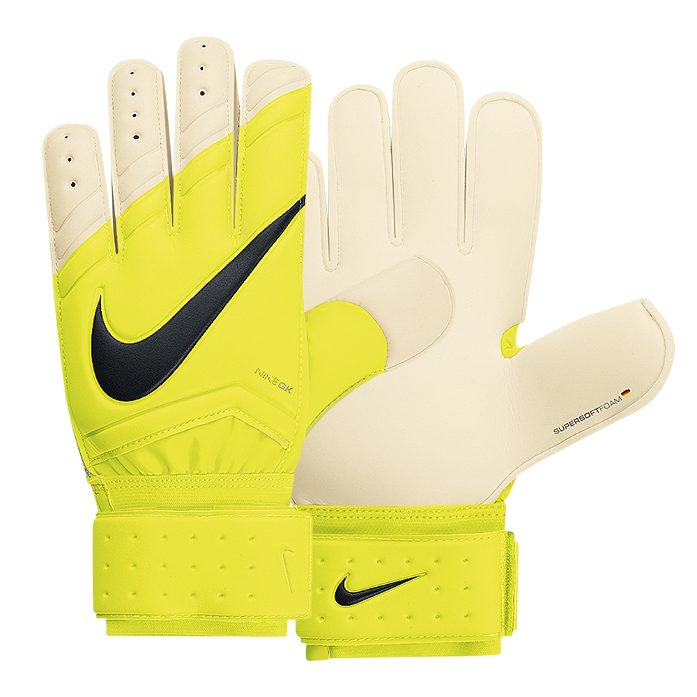 Nike Spyne Pro Soccer Goalkeeper Gloves (Volt White Black)  0a060643173f