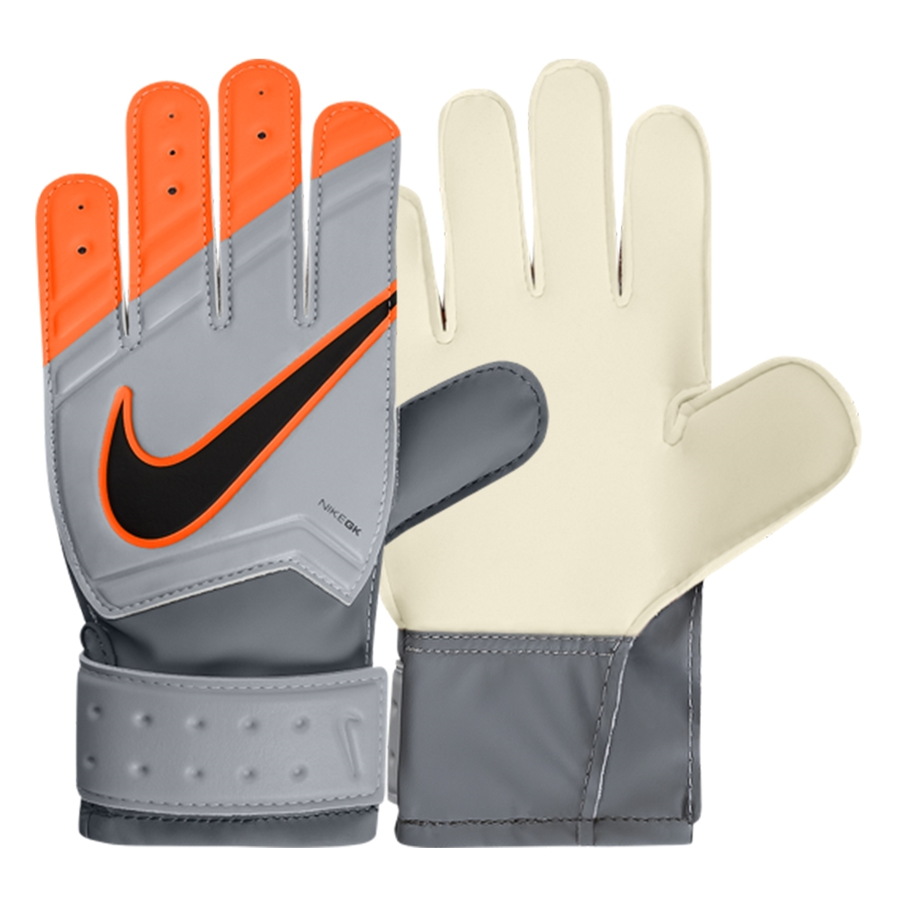 Junior Match Goalkeeper Gloves (Grey Total Orange)  fc42a77fa6be
