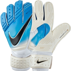 Nike Premier SGT Soccer Goalkeeper Gloves (White/Photo Blue/Chlorine Blue/Black)