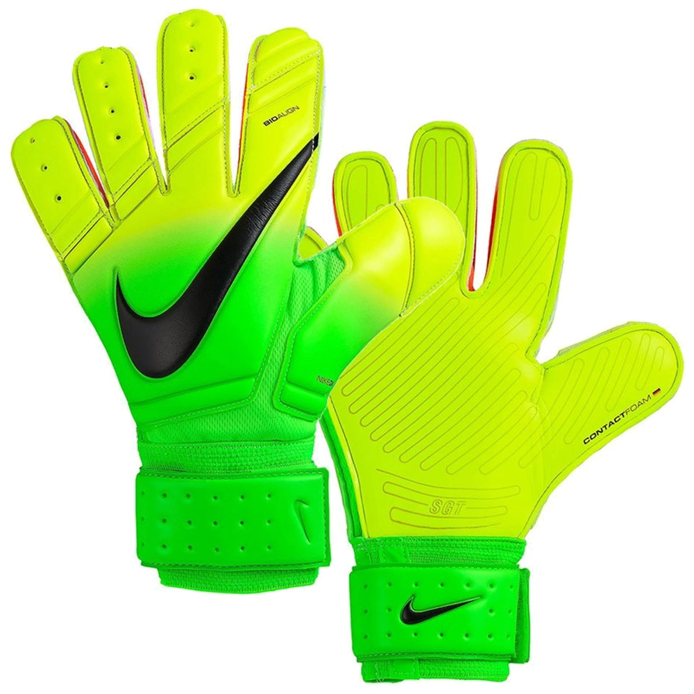 Black nike goalkeeper gloves - Nike Premier Sgt Soccer Goalkeeper Gloves Electric Green Volt Black