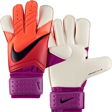 Nike Vapor Grip3 Soccer Goalkeeper Gloves (Total Crimson/Hyper Grape/Obsidian)