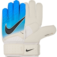 Nike Spyne Pro Soccer Goalkeeper Gloves (White/Photo Blue/Chlorine Blue/Black)