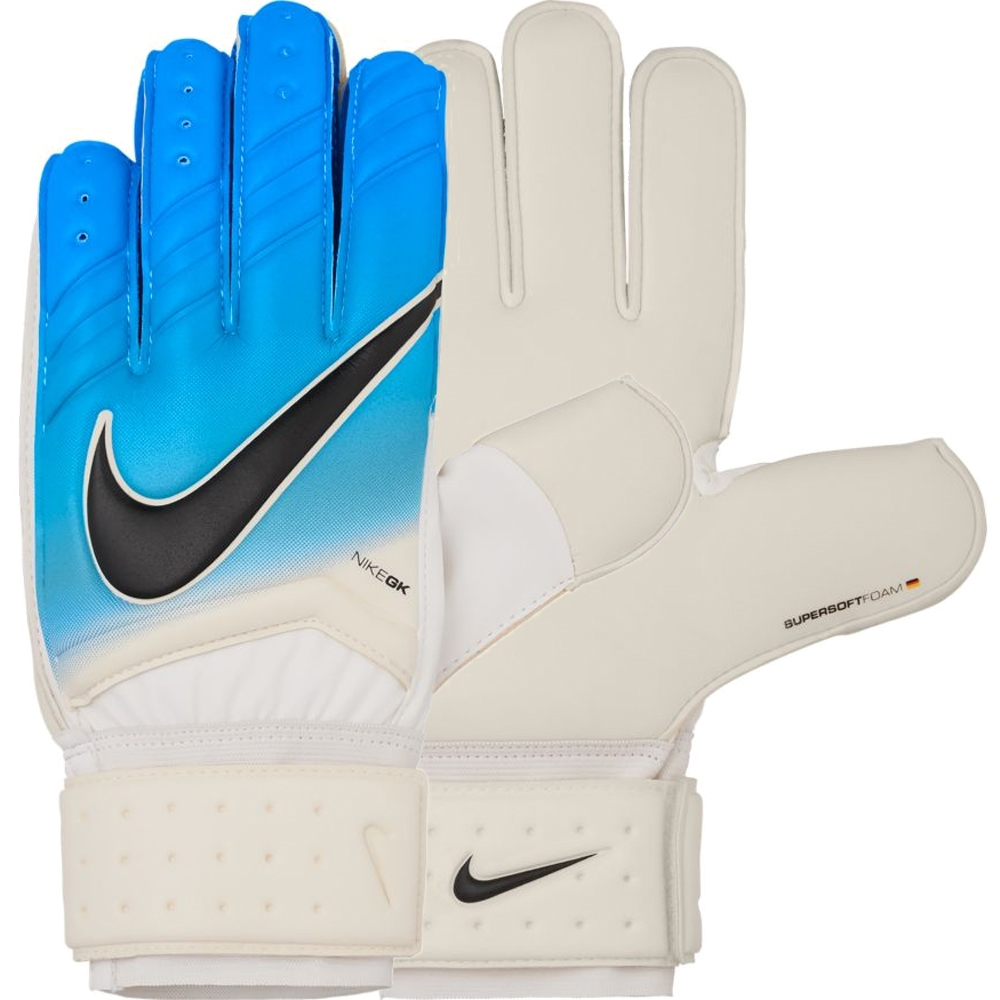 Black nike goalkeeper gloves - Nike Spyne Pro Soccer Goalkeeper Gloves White Photo Blue Chlorine Blue Black