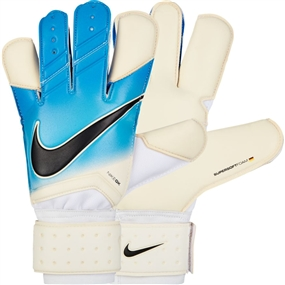 Nike Grip3 Soccer Goalkeeper Gloves (White/Photo Blue/Chlorine Blue/Black)