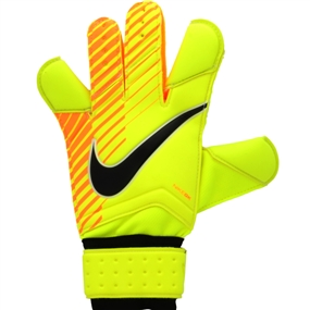 Nike Grip3 Soccer Goalkeeper Gloves (Volt/Laser Orange/Black)