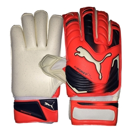 Puma evoPOWER Protect 2 GC Goalkeeper Soccer Gloves (Lava Blast/Total Eclipse/White)