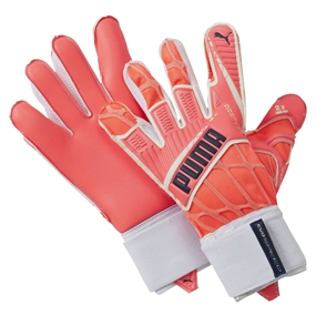 Puma evoSPEED 1.4 Goalkeeper Gloves (Lava Blast/White/Total Eclipse)