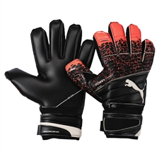 Puma evoPOWER Protect 1.3 Soccer Gloves (Fiery Coral/Puma Black/Puma White)