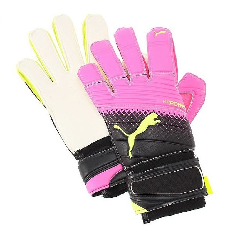 Puma evoPOWER Grip 2.3 Soccer Goalie Gloves (Pink Glow Safety Yellow ... cdc3202f6449