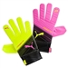 Puma Youth evoPOWER Grip 4.3 Soccer Goalie Gloves (Pink Glow/Safety Yellow/Black)