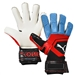 Puma ONE Grip 1 Hybrid Pro Goalkeeper Gloves (Black/Bleu Azur/Red Blast)