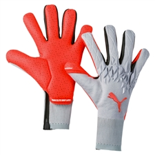 Puma FUTURE Grip 19.1 Goalkeeper Gloves (Grey Dawn/Energy Red)