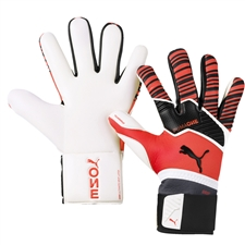 Puma ONE Grip 1 Hybrid Pro Goalkeeper Gloves (Energy Red/Black/White)