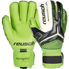 Reusch RE:CEPTOR Pro M1 Special Cut GK Gloves (Black/Green Gecko)