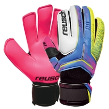 Reusch RE:CEPTOR Prime S1 Finger Support Soccer GK Gloves (Black/Dark Green/Green Gecko)