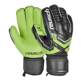 Reusch RE:LOAD Prime S1 Soccer Goalkeeper Gloves (Black/Green Gecko/White)