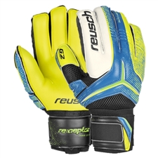 Reusch RE:CEPTOR Prime G2 Ortho-Tec Soccer GK Gloves (Ocean Blue/Safety Yellow)