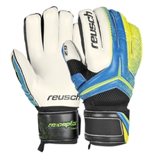 Reusch RE:CEPTOR Prime G2 Soccer GK Gloves (Ocean Blue/Safety Yellow)