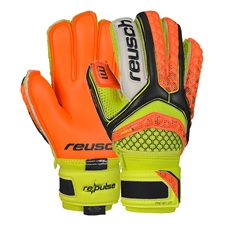 Reusch RE:PULSE Pro M1 Junior GK Gloves (Black/Shocking Orange)