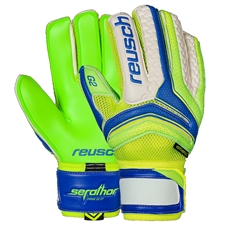 Reusch Serathor Prime G2 Ortho-Tec GK Gloves (Electric Blue/Green Gecko)