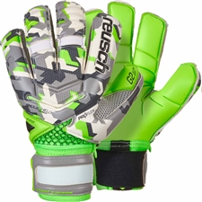Reusch Reload Pro G2 Ortho-Tec Goalkeeper Gloves (Camo/Green Gecko)