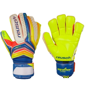 Reusch Serathor Deluxe G2 GK Gloves (Dazzling Blue/Safety Yellow)