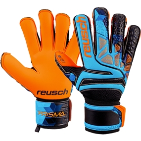 Reusch Prisma Prime S1 Evolution Finger Support LTD GK Gloves (Blue/Black/Shocking Orange)