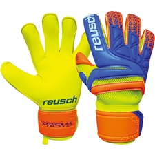 Reusch Prisma Prime S1 Evolution Finger Support GK Gloves (Safety Yellow/Ocean Blue)