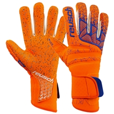 Reusch Pure Contact G3 Fusion GK Gloves (Shocking Orange/Blue)
