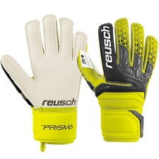 Reusch Junior Prisma SG Finger Support GK Gloves (Safety Yellow/Black)