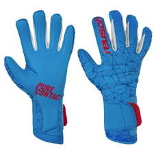 Reusch Pure Contact II AX2 GK Gloves (White/Aqua Blue)