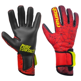 Reusch Pure Contact II R3 GK Gloves (Black/Fire Red)