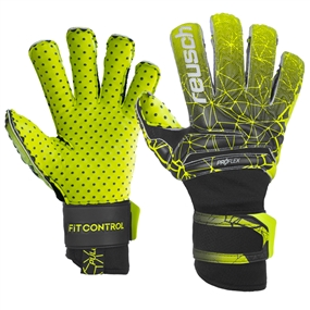 Reusch Fit Control Pro G3 Speed Bump Evolution GK Gloves (Black/Lime Green)