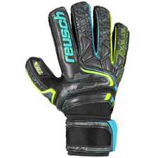 Reusch Attrakt R3 Finger Support Goalkeeper Gloves (Black/Safety Yellow)