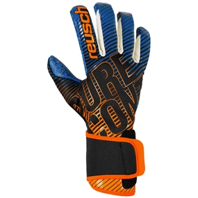 Reusch Pure Contact 3 G3 Fusion Goalkeeper Gloves (Black/Shocking Orange/Deep Blue)