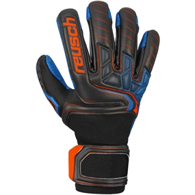 Reusch Attrakt G3 Evolution NC Guardian Goalkeeper Gloves (Black/Shocking Orange/Deep Blue)