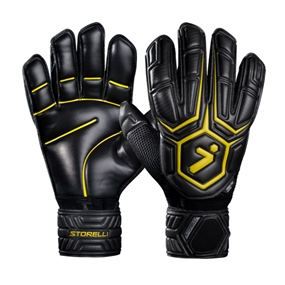 Storelli ExoShield Gladiator Elite Soccer Goalie Gloves (Black/Yellow)