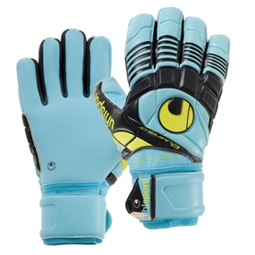 Uhlsport Eliminator Absolutgrip HN Goalkeeper Gloves (Ice Blue/Black/Yellow)