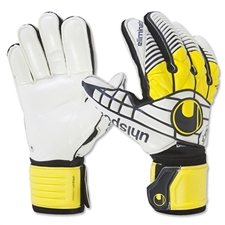 Uhlsport Eliminator Supersoft Bionik '16 Goalkeeper Gloves (White/Black/Yellow)