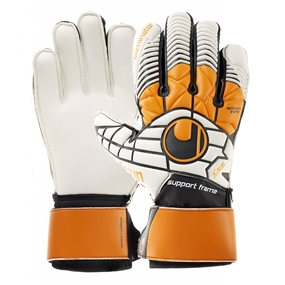 Uhlsport Eliminator Soft SF Goalkeeper Gloves (Black/Orange/White)