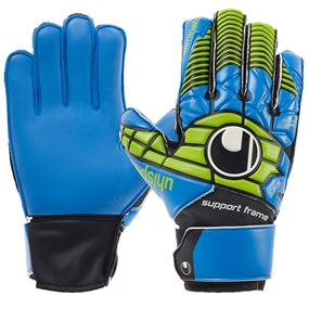 Uhlsport Eliminator Soft SF Junior Goalkeeper Gloves (Power Green/Blue)