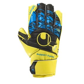 Uhlsport Eliminator Soft SF Junior Goalkeeper Gloves (Fluorescent Yellow/Black/Hydro Blue)