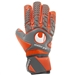 Uhlsport Aerored Absolutgrip HN Goalkeeper Gloves (Dark Grey/Fluorescent Red/White)