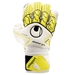 Uhlsport Absolutgrip Bionik+ Goalkeeper Gloves (White/Fluorescent Yellow/Black)