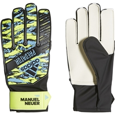 Adidas Youth Predator Training Manuel Neuer Goalkeeper Gloves (Solar Yellow/Bright Cyan/Black)