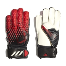 Adidas Youth Predator 20 Match Fingersave Goalkeeper Gloves (Black/Active Red)