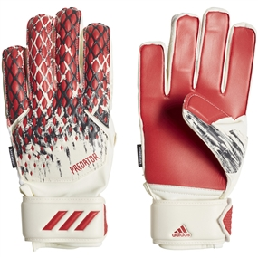 Adidas Youth Predator 20 Fingersave Manuel Neuer Goalkeeper Gloves (White/Black/Active Red)